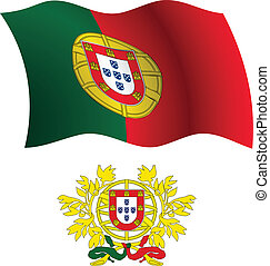portugal wavy flag and coat