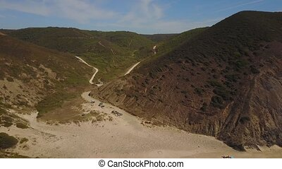 portugal, westliche küste, süden, wild, entlang, strände