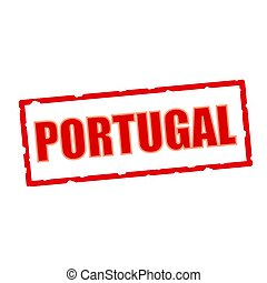 PORTUGAL wording on chipped rectangular signs