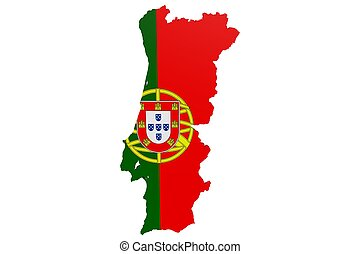 Portugese Flag Map