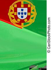 Portugese flag on race car