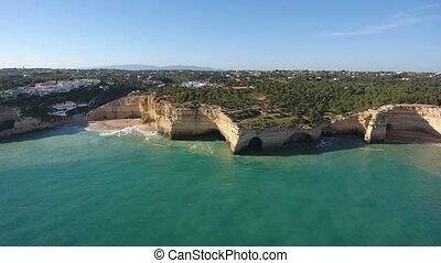 portugiesisch, portugal, benagil., himmelsgewölbe, aerial.,...