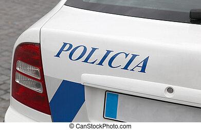 portugisisk, politi vogn