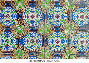 portugués, azulejos, 240, barnizado