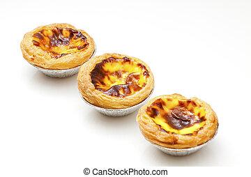 portugués, huevo, tartas