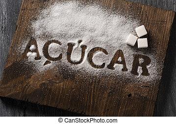 portugués, palabra escrita, azúcar