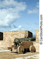 portugués, protector, canones, murallas
