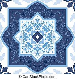 portugués, tiles., patterns., seamless, azulejo