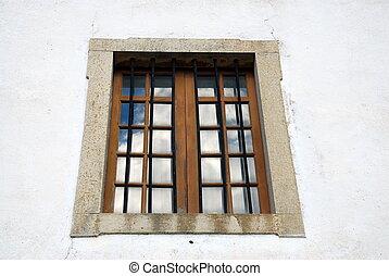 portugués, ventana, lagos, s., iglesia, sebastian