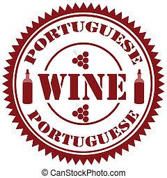 portugués, wine-stamp