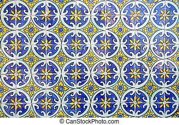 portugues, azulejos, típico