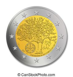 Portuguese 2 euro coin special edit