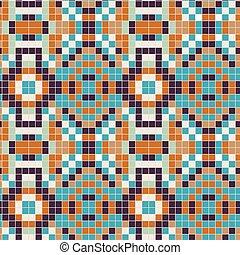 Portuguese Azulejos Tiny Tiles Vintage Pattern Background. ...