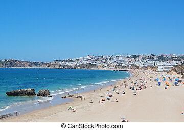 Portuguese beach tourism season. Albufeira.