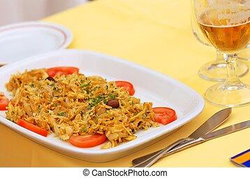 Portuguese cod dish - bacalhau - Traditional Portuguese...