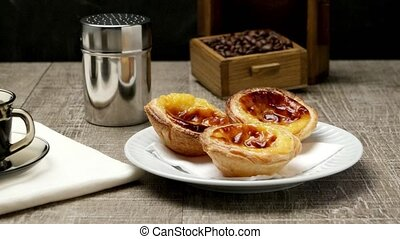 Portuguese Custard Tarts with Coffe