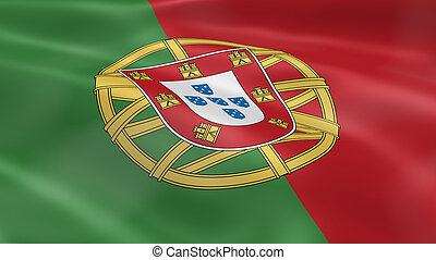 Portuguese flag in the wind. Part of a series.