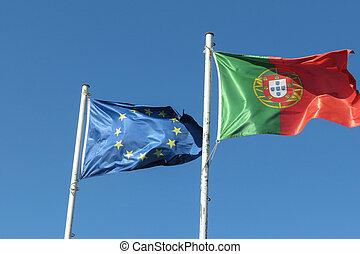 Portuguese Flag of Portugal - the Portuguese national flag ...