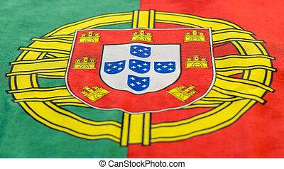 Portuguese flag still image.