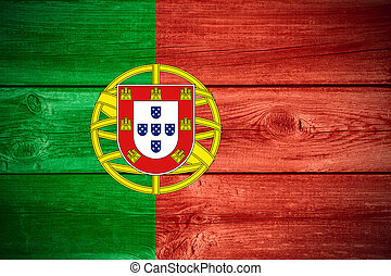Portuguese flag - flag of Portugal or Portuguese banner on...