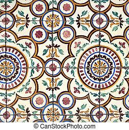 Portuguese glazed tiles 021 - Detail of Portuguese glazed...