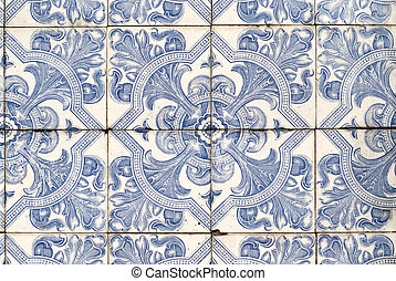 Portuguese glazed tiles 040 - Detail of Portuguese glazed...