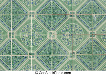 Portuguese glazed tiles - Detail of Portuguese glazed tiles....