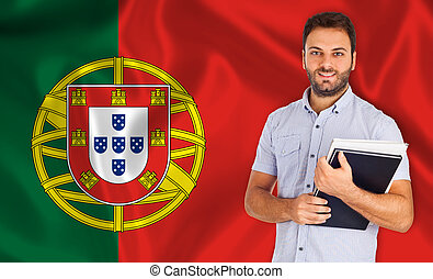 Portuguese language - Young smiling student learns the...