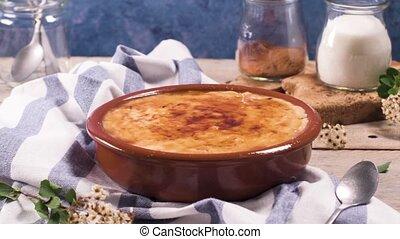 Portuguese leite creme - Leite creme, portuguese desert...