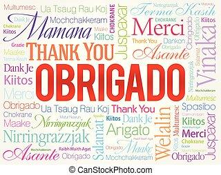 portuguese), mot, (thank, vous, obrigado, nuage
