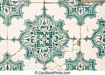 Traditionally painted portuguese tiles, azulejos