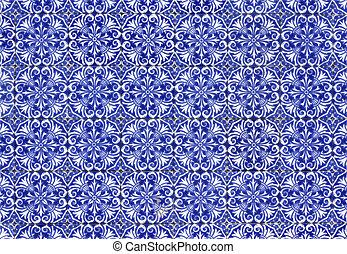 Portuguese tiles - Old tiled Background - portuguese...