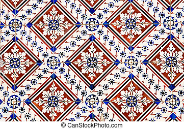 Portuguese tiles - The abstract pattern of Portuguese...