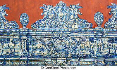 Portuguese Tiles, Soares dos Reis museum, Porto, Portugal