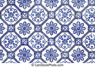 Portuguese Tiles - Traditional coloured tiles decorating the...