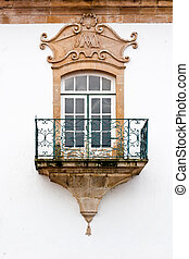 Portuguese Window with a balcony in the Style of Manueline