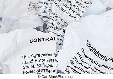 porwany, kontrakt