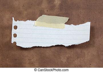 porwany papier