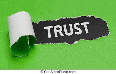 porwany, zielony, papier, odkrywczy, przedimek określony przed rzeczownikami, słowo, ufność