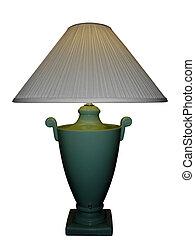 porzellan, grüne lampe, blumenvase