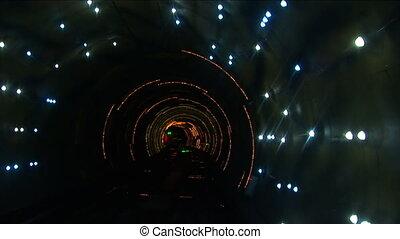 porzellan, shanghai, bund, bund, besichtigung, tunnel,...