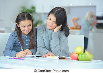 porzione, figlia, compito, madre