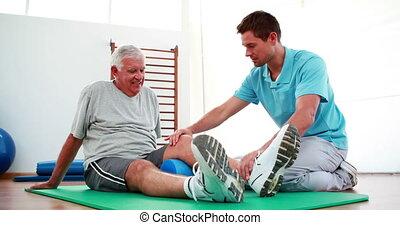 porzione, fisioterapista, paziente