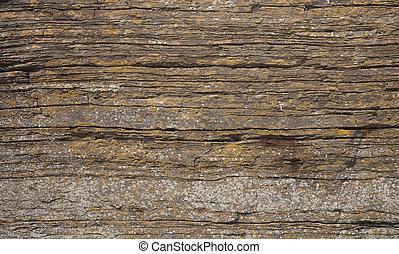 posé couches, texture, rocher