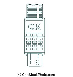 POS terminal vector icon in flat style, isolated from the background.