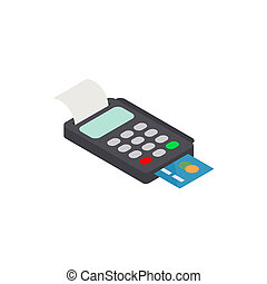 POS terminal with credit card icon