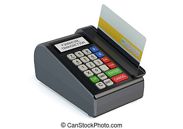 POS-terminal with credit card