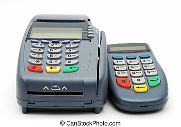 POS-terminal with PIN-pad - Modern POS terminal with...
