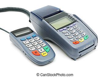 POS-terminal with PIN pad - Modern POS terminal with...