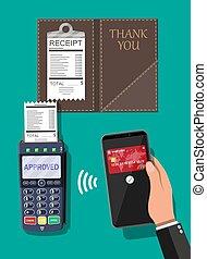 pos, terminal, wpłata, transakcja, smartphone